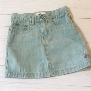 Osh Kosh Denim Skirt Size 7 Embroidered